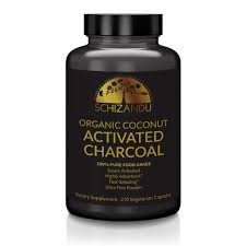 100% Pure, <b>Organic Activated Coconut Charcoal</b> Capsules - 210 ...