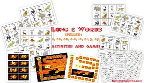 Long E Words e, ee, ea, e-e, ie, ei, y, ey Activities and Games ...