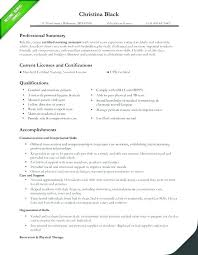 Sample Professional Summary Resume Statement Inside For College