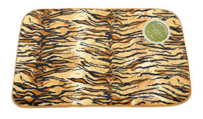 tiger faux fur bath rug