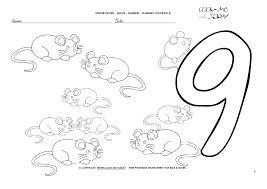 Printable Number Sheet Number 9 Coloring Sheet Number 9 Coloring ...