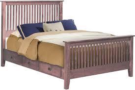 Elkins Mission Style Cherry Platform Bed Frame