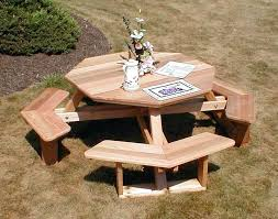 round patio table plans red cedar octagon walk in picnic table stop sign transpa octagon red round patio table plans