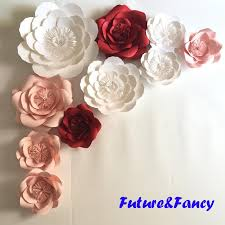Paper Flower Wedding Decorations Set Giant Paper Flowers For Wedding Backdrops Bridal Shower Baby
