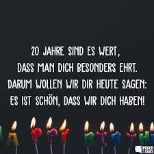 Sprüche Zum 20 Geburtstag