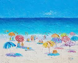 myrtle beach painting beach art first day of summer by jan matson