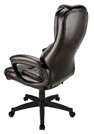 realspace chair high back bonded leather chair brown black 3 realspace chair reviews