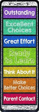 Creative Teaching Press Chalk It Up Desktop Behavior Clip Charts Bookmarks 0864