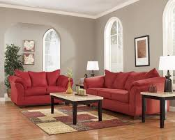 Rent to Own Ashley Darcy Sofa & Loveseat Set in Salsa