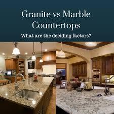 granite vs marble countertops