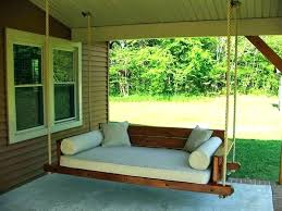 patio swing bed outdoor porch round sunbrella daybed with canopy swings you ll love