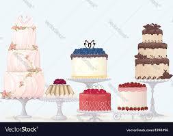 Fancy Cakes Royalty Free Vector Image Vectorstock