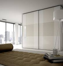 wardrobe with painted glass doors