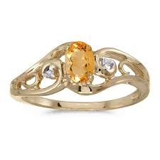 Diamond Designs By Bodis Rice Lake Wi Jcx382452 This 14k Yellow Gold Oval Citrine And Diamond Ring
