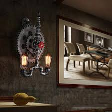 Bedroom Wall Sconce Magnificent Retro Loft Wall Lamp Vintage Gear Water Pipe Light Restaurant Living
