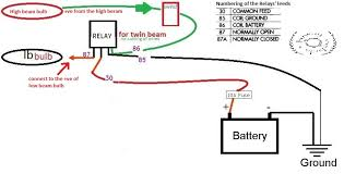 hiwayrebels dual beam headlights for the pulsar 220 this relay acts as a switch and powers the low beam bulb whenever the high beam is turned on see below wiring diagram it might talk better