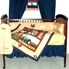 decoration rustic baby bedding sets barnyard blue and beige farm animal 6 piece crib set