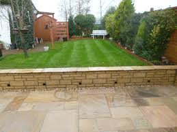 rothwell new patio and retaining wall