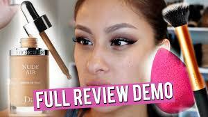 amazing no makeup foundation dior skin air foundation demo review you