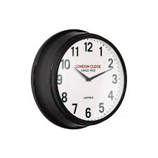 black gloss wall clock