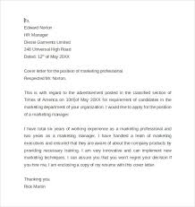 marketing professional cover letter marketing manager cover letters