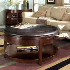round coffee table storage best leather ottoman with storage ideas on round coffee table decorations 2