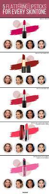 5 Flattering Lipsticks That Work For