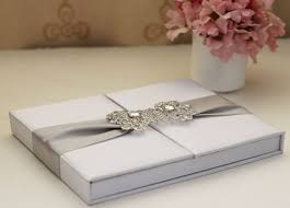 silk foliogate wedding invitations box Wedding Invitation With Box white silk foliogate wedding invitations box wedding invitation with bow
