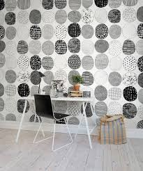 engaging home office design. view in gallery lovely custom wall covering for the black and white home office design rebel walls engaging