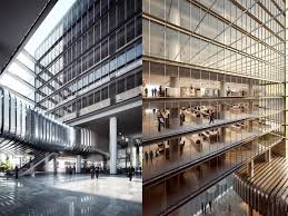 Modern Office Building Design Unique ATKINS Redesigns The Headquarters Of A Modern Banking Sector PRC