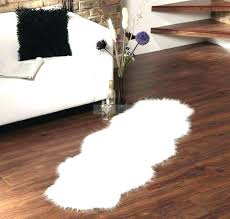40 gallery gray faux fur rug image