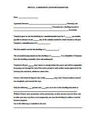 Month To Month Rental Agreement Template Month To Month Rental Agreement Template Download Edit