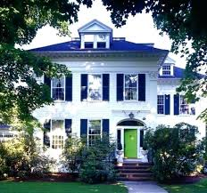 white front door blue house. Navy Blue Exterior Shutter Front Door House Shutters White Y