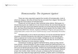 homosexuality the argument against gcse religious studies  document image preview