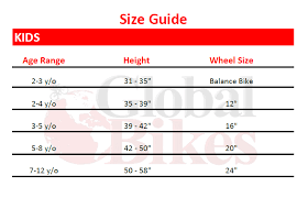 Kids Bike Sizing Guide Global Bikes Arizonas 1