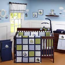 bedding sets by crown crafts zachary 7 piece baby crib bedding set with per