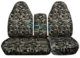 ford f 150 60 40 high back beige and green camo seat covers