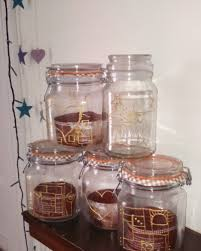 Glass Jar Decorating Ideas Make it DIY Gift Ideas 100D embellished glass jars Thrifty 14