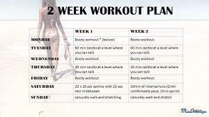 2 week booty shaping workout plan