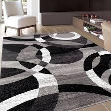 modern black rug osti grey modern circles grey abstract contemporary area rug 7x2710 x modern black