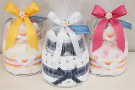 2 tier silver nappy cake baby shower diaper cake new baby gift her sydney