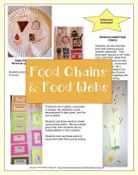 Food Chains and Webs, lesson plans, 5Es, worksheets, assessment ...
