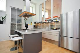 small kitchen island with sink. Simple Island Design. A Modern Kitchen With Frosted-glass Cabinetry And Shelving On The Side Of Room Small Sink E