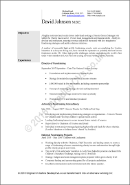 Cvs Resume Example David Johnson Original Cv Page 1 Gif Waa Mood