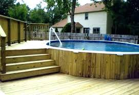 Pool Designs For Small Backyards Best Above Ground Swimming Pool Decks Plans Free Deck Design Photos Info