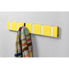 Flip Coat Rack Interesting Yellow Flip Hooks Coat Rack Heavy Duty Coat Rail For Kids Backpacks