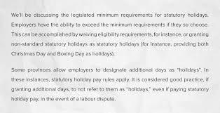 statutory holiday pay