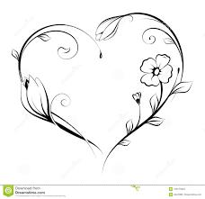 Heart Shape Design Floral Heart Shape Design Stock Vector Illustration Of