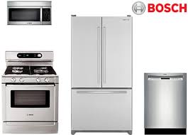 jenn air appliance package. this package adds the jenn-air counter depth refrigerator to first of stove, microwave and dishwasher. bosch does not have a french door jenn air appliance