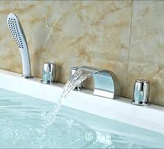 new deck mount bathtub faucet for deck mount bathtub faucet luxury deck mount three handles waterfall